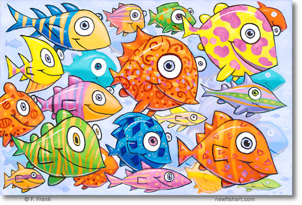 Colorful Fish Painting Colorful Fish Art Fish